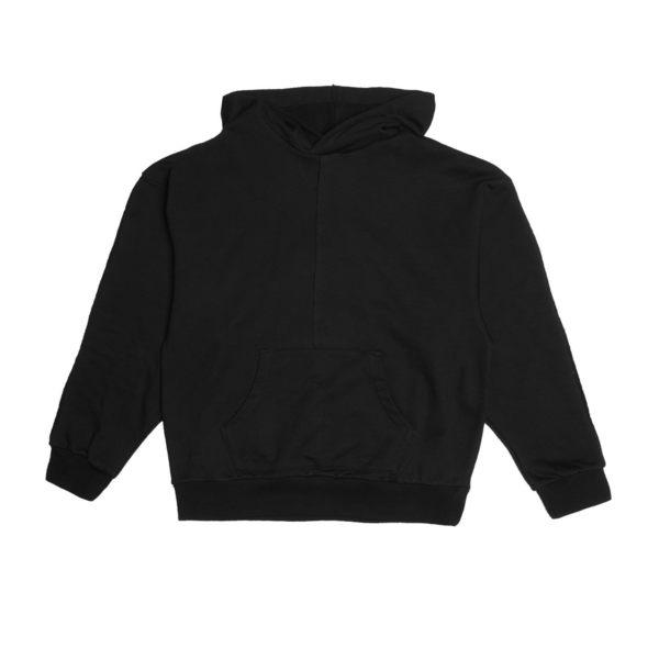 FAIRPLAY LYRIC BLACK 黑 長袖 連帽T恤 休閒 棉質 寬版 素色 基本【GT Company】