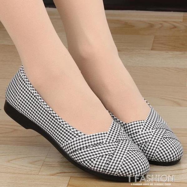 老北京布鞋女款夏新款軟底中年平跟媽媽鞋子平底舒適工作單鞋