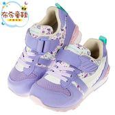 《布布童鞋》Moonstar日本Hi系列緹花紫兒童機能運動鞋(15~21公分) [ I8QS29F ]
