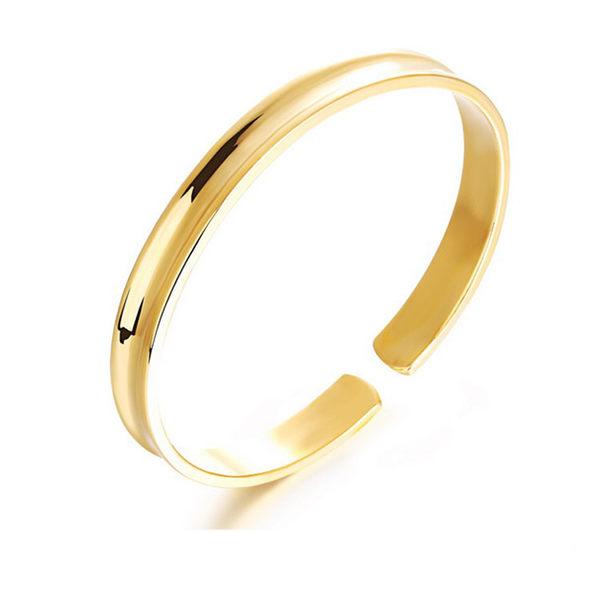 【5折超值價】 情人節禮物 最新款經典時尚光面造型女款銅鍍18K金手鐲