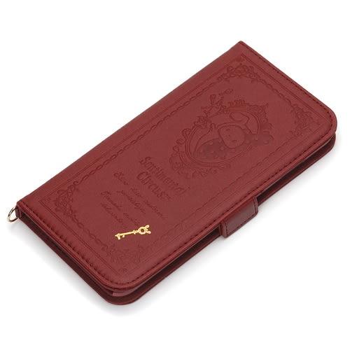 尼德斯Nydus~* 日本正版 San-X 憂傷馬戲團 翻頁皮套 手機殼 卡夾式 5.5吋 iPhone6+ plus