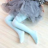 舞蹈襪 兒童連褲襪春秋季女童打底褲天鵝絨防勾絲白色舞蹈襪夏季長襪絲襪【小天使】