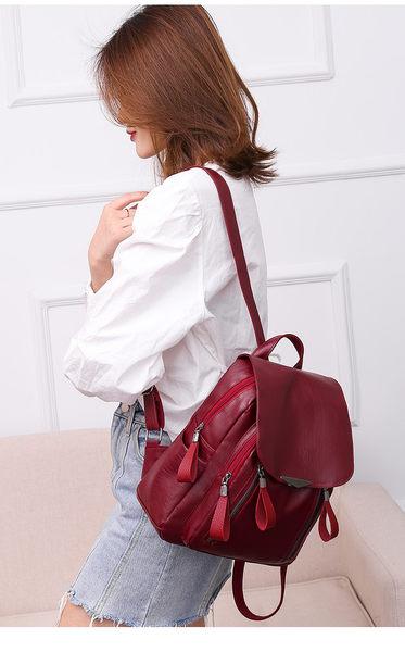 韓版新款優質皮革休閒包 後背包 時尚女包 編號7046 捨得
