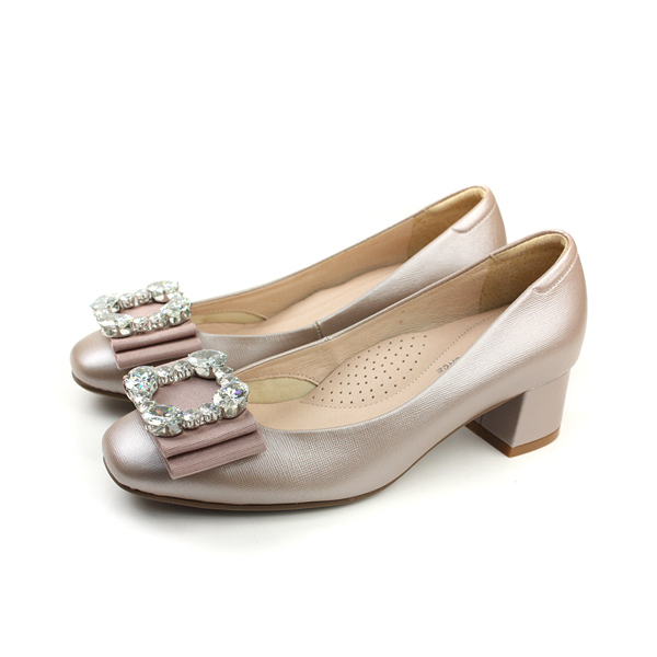 HUMAN PEACE 跟鞋 低跟 粗跟 粉色 女鞋 62711 no267