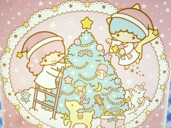 【震撼精品百貨】Little Twin Stars KiKi&LaLa 雙子星小天使~雙面卡片-粉聖誕/介紹