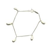 Tiffany & Co 蒂芬妮 Elsa Peretti® Teardrop系列6顆水滴淚滴造型925純銀手鍊