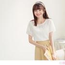 《AB15563》高含棉透膚立體蕾絲繡花包袖衫/上衣 OrangeBear