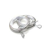 金屬靜音窗簾環 12入/組 消音環 吊環 S鉤 掛勾 內圈Φ30mm亮鉻