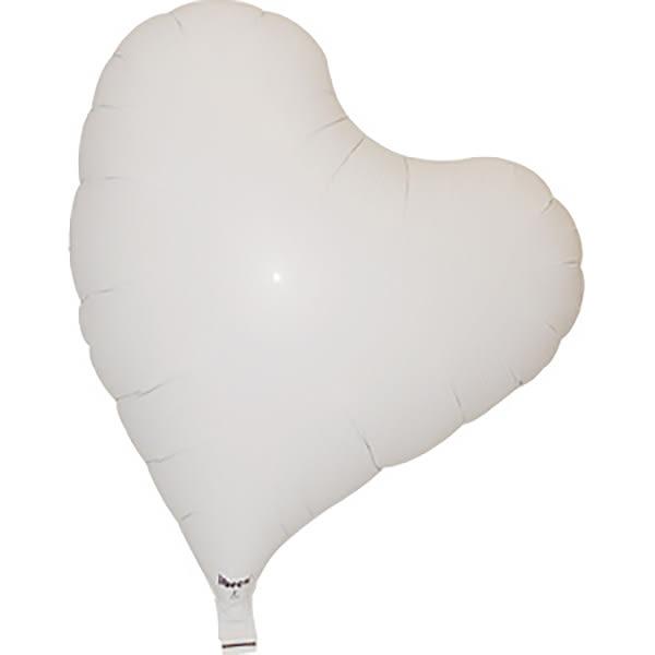14吋愛心鋁箔球(不含氣)-天使白