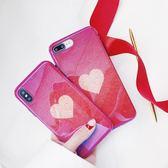 日韓愛心iPhonex手機殼7硅膠防摔8plus蘋果6s藍光閃粉7網紅潮女七【諾克男神】