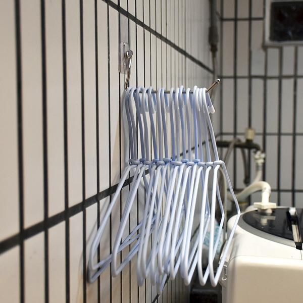 13cm衣架整理收納架 304不鏽鋼無痕掛勾 易立家生活館 舒適家企業社 陽台掛衣架