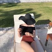 韓國新款一字肩性感大小胸鋼托聚攏連體遮肚顯瘦溫泉游泳衣女 降價兩天
