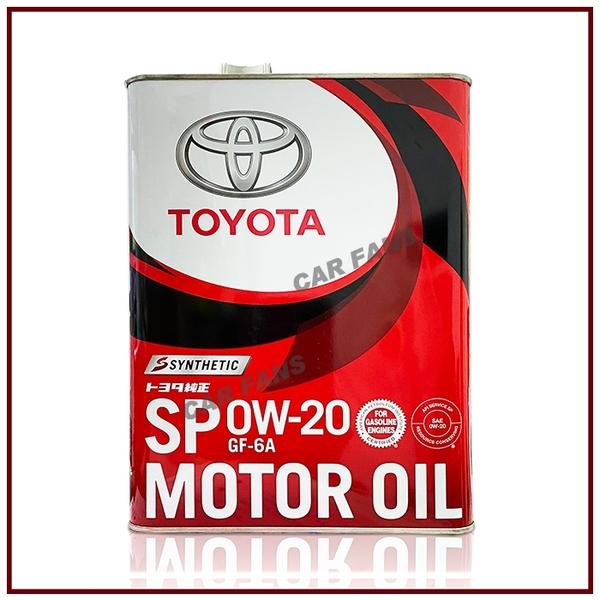 【愛車族】日本正廠 豐田 TOYOTA Motor Oil SP 0W20 機油4L 日本原裝進口