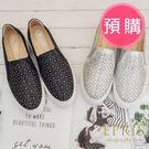 預購 雷射水鑽雕花 好走不磨腳百搭內增高厚底懶人鞋 EPRIS艾佩絲-時尚銀