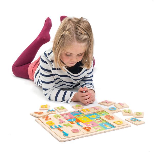 【美國Tender Leaf Toys】字母圖片學習拼圖(左右腦啟蒙學習教具)