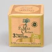 法國【小橄欖樹】馬賽香皂(橄欖油) 100g*3入保存期限:2020.09
