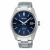 《台南 時代鐘錶 SEIKO》精工 Presage 菱格立體面 鋼錶帶機械男錶 SPB167J1 /6R35-00V0B 藍 39.3mm