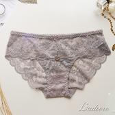 內褲 Ladoore 扶桑花季 法式蕾絲精品小褲 (灰)