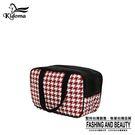 手提袋-編織餐袋-紅白千鳥-03A
