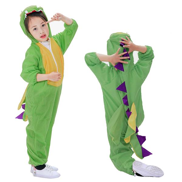 萬聖節服裝 恐龍造型服 連身衣 萬聖節 角色扮演 表演服 套裝 橘魔法 萬聖節 現貨 男童 女童