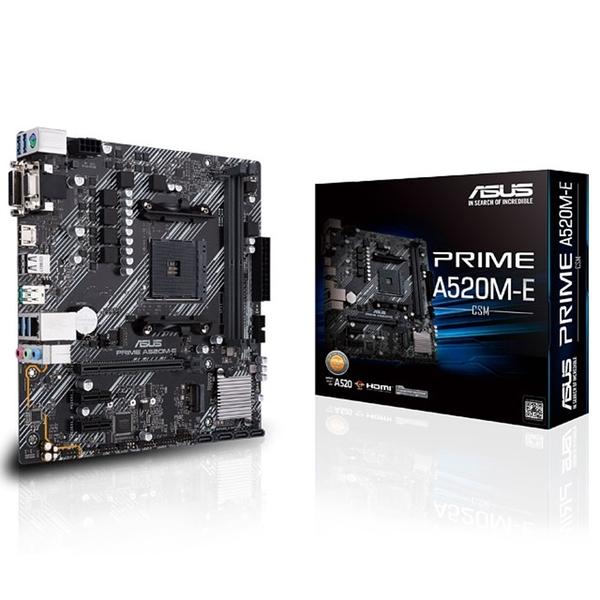 (A520系列)AMD R5 3400G + 華碩 PRIME A520M-E/CSM【刷卡含稅價】