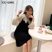 中大尺碼 黑色V領背心裙洋裝 - 適XL~4L《 68067HH 》CC-GIRL