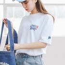 韓國女裝 巧克力餅乾字母短袖印花T恤【C...