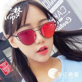 歐美新款復古眼鏡潮男全金屬前衛個性女士韓版平面自拍墨鏡太陽鏡-奇幻樂園