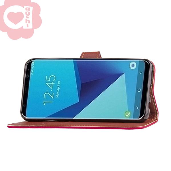 Sony Xperia XA1 Ultra 幸運草撞色葉子皮套 真皮柔軟質感 翻蓋側掀支架式功能 附皮質掛繩