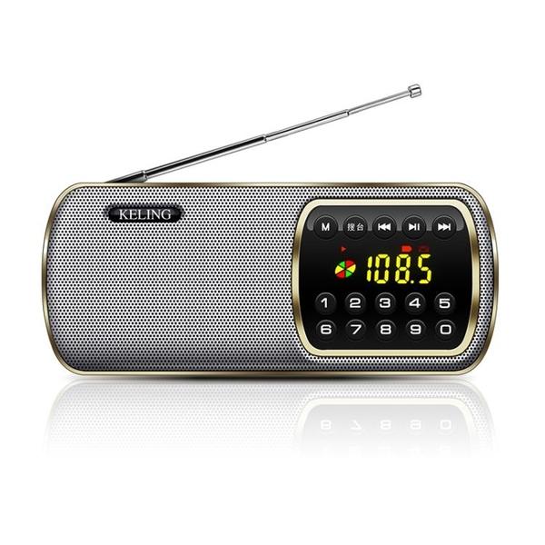 收音機老人便攜式老年調頻fm小廣播半導體可充電插卡