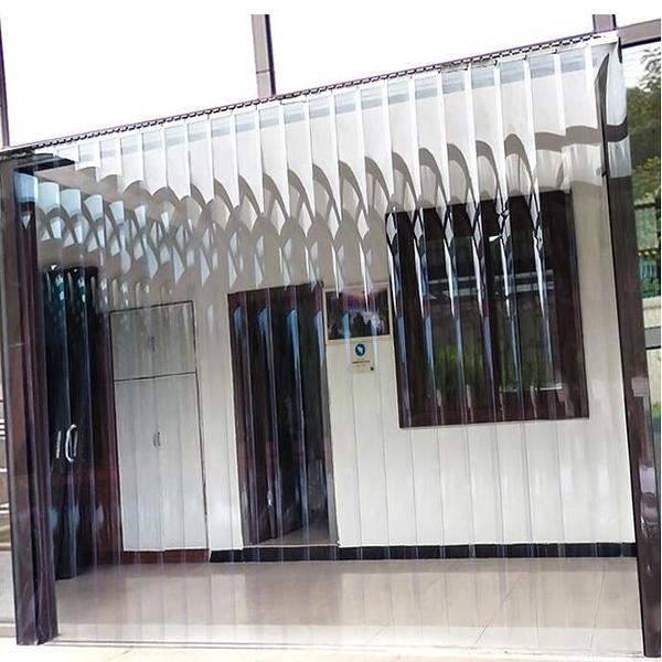 軟門簾夏季防蚊家用廚房透明PVC塑料空調隔斷擋風皮簾 子店鋪商用