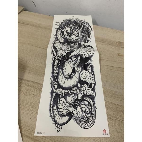 超長半甲手臂紋身貼紙防水貼紙刺青貼紙(10張入/777-8785)