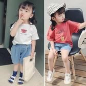 女童短袖T恤夏裝 2019新款嬰兒童小寶寶洋氣半袖男童韓版棉質上衣