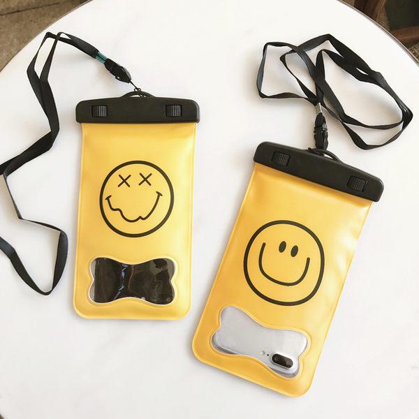 【SZ23】笑臉手機潛水袋 手機防水袋 防水套iphone6plus m9 s6 s5 note4 820 蝴蝶 6吋以下可用三星 SONY