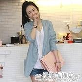 亞麻小西裝女外套薄款春夏顯瘦棉麻西服韓版寬鬆休閒網紅風女 完美居家