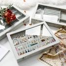 優彩絨布首飾收納盒大容量戒指手鐲耳釘耳環展示盒項錬飾品珠寶箱 英雄聯盟