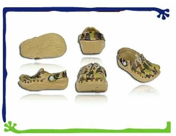 *粉粉寶貝玩具*Polliwalks童鞋-鱷魚(迷彩綠)