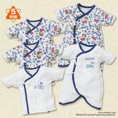 日本西松屋童裝 新生兒 純棉紗布衣&蝴蝶衣 五件式套裝 史奴比【NI200248491017】