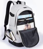 男士旅游後背包休閒被包大容量水桶包裝衣服的帆布旅行李雙肩包包 娜娜小屋
