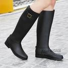 秋韓版雨鞋女高筒時尚防雨水鞋膠鞋馬丁雨靴戶外長筒水靴平底雨鞋 每日下殺NMS