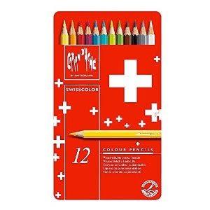 CARAN d'ACHE 卡學生級水溶性色鉛筆12色*1285.712