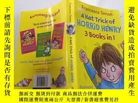 二手書博民逛書店A罕見Hat Trick of Horrid Henry (3 Books in 1)可怕的亨利的帽子戲法(三本書