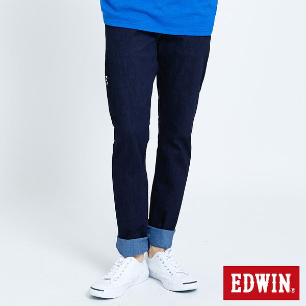EDWIN E-FUNCTION 無接縫窄直筒牛仔褲-男款 原藍色