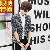 西裝外套-夏季薄款七分袖時尚修身亞麻外套5色68q14[巴黎精品]