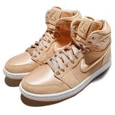 Nike Wmns Air Jordan 1 Retro High Soh Ice Peach 黃 白 麂皮 緞面 喬丹1代 女鞋【PUMP306】 AO1847-845