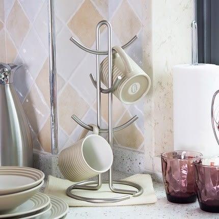 時尚金屬馬克杯咖啡杯多功能置物架 好用創意收納架