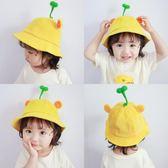 嬰兒寶寶帽子太陽春秋季潮薄款兒童遮陽防曬男童女童小黃帽漁夫帽