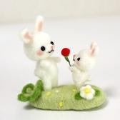 兔子擺件羊毛氈戳戳樂成人手工diy制作非成品【聚可愛】