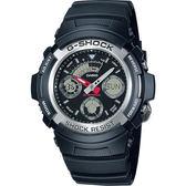 G-SHOCK 標準指針數位雙重顯示手錶-黑(AW-590-1A)