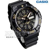 CASIO卡西歐 MRW-210H-1A2 旋轉計時潛水風三針運動錶 黑金 男錶 MRW-210H-1A2VDF